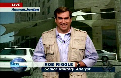 Overland Park native and newest Daily Show correspondent, Rob Riggle.