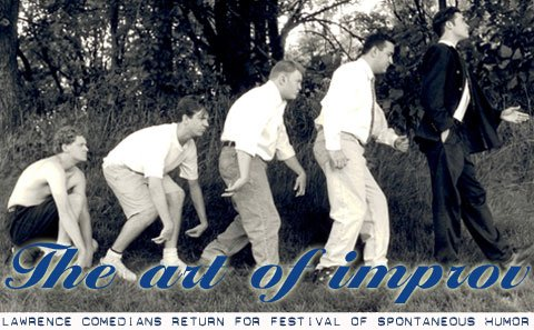 Ed Goodman, left, Jason Sudeikis, Jeremy Carter, Corey Rittmaster and Eric Davis comprise Der Monkenpickel. The group, seen here circa 1996, will reunite for 7: The KC Improv Festival.