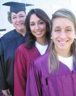 It's graduation time for, from left, Tami Klinedinst and her daughters Anna Fernandez, 21, and Melissa Fernandez, 18. All three are graduating this weekend.