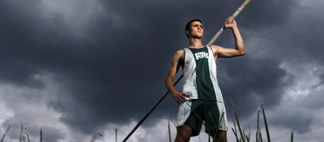 FREE STATE HIGH SENIOR TODD LEE has proven a quick study in the pole vault, winning a Class 6A regional title and qualifying for the 6A state meet in Wichita in just his second season of competition.