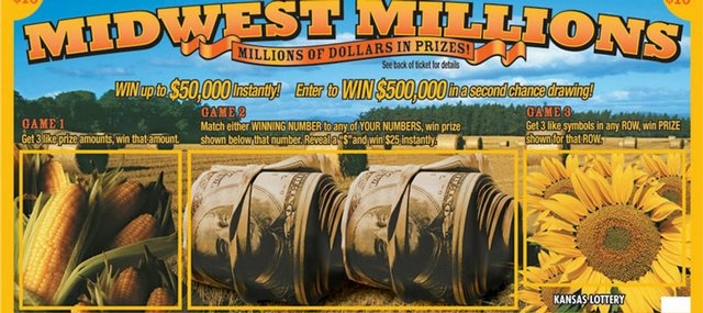 Midwest Millions, the joint game of the Kansas and Iowa lotteries, will cost $10 when it goes on sale in September. It is the first time that two states have joined to offer a scratch-off lottery.