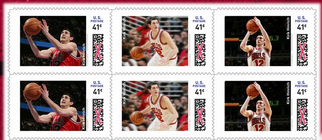 Chicago's Kirk Hinrich is among 20 NBA standouts featured in a new NBA postage series.