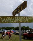 Cars, trucks and tents begin to fill the grounds at the Wakarusa Music & Camping Festival on its first day. The festival runs through Sunday at Clinton State Park.