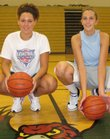 Free State High's Taylor Manning, left, and Ashli Hill will be counted on to grow into their long frames this winter for the Firebirds. Standing 6-foot-1 and 6-4, respectively, the duo should give Free State a decided height advantage during the 2007-08 basketball season.