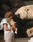 Debbie Sommer, Greeley, holds her 2-month-old son, Caleb, while viewing a polar bear exhibit in Kansas University's Natural History Museum in this June 2007 file photo.