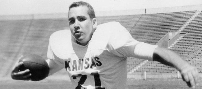John Hadl works out during his playing days at Kansas University.