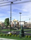 This architect's rendering shows the Wal-Mart site at Sixth Street and Wakarusa Drive.
