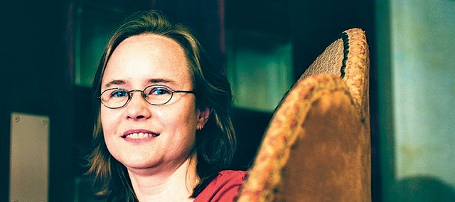 """Lawrence author Lane Robins will sign copies of her first novel, a fantasy called """"Maledicte,"""" on Friday at Borders."""