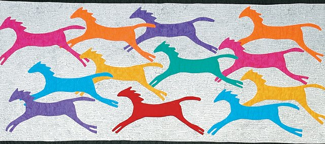 Painter Ponies Quilt, by Mildred (Fox) Jordt