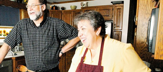 Dwight and Peggy Hilpman are among the families who have made the transition from cooking for a full house to preparing meals for two now that their children have grown up and left home. The switch can be both a challenge and an adventure.