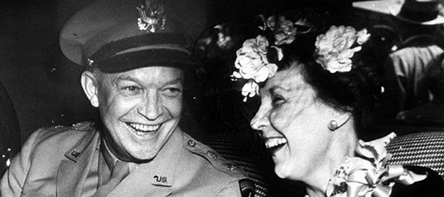 Gen. Dwight D. Eisenhower sees his wife, Mamie, after arriving home from World War II in this June 18, 1945, file photo from the Associated Press.