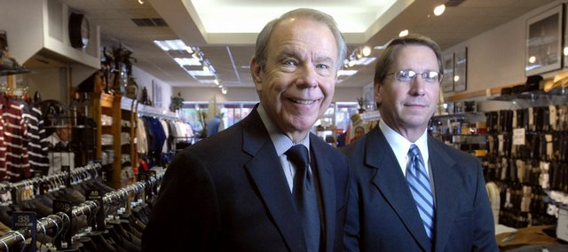 Joe Flannery, left, president of Weaver's Department Store, and Earl Reineman, vice president, continue a retail legacy born 150 years ago on Massachusetts Street.