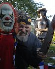 Dana Dyer has set up his haunted yard at 1755 E. 1310 Road for 12 years. His collection of ghoulish figures creates horrific scenes for trick-or-treaters who dare to brave their way through the yard.