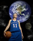 Women's basketball player Marija Zinic is one of 26 foreign-born student-athletes on Kansas University's campus, ranking the school in the upper division of the Big 12 in that department.