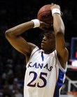Brandon Rush and the Jayhawks take on Eastern Washington tonight in Allen Fieldhouse.