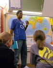 Jamaal James, 17, of Trinidad, talks to fourth-graders at Broken Arrow School in this file photo.  Broken Arrow received the Governor's Achievement Award because of its excellent academic standings.