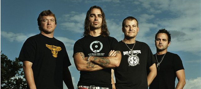 Cross Canadian Ragweed, led by Cody Canada, pictured second from left, is the latest national act to write and release a song inspired by Lawrence.