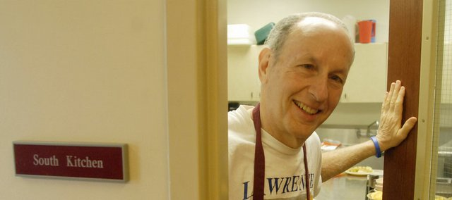 Phil Minkin, who has been the chef for Lawrence's Head Start for more than 30 years, is shown working with a group of students at one of the program sites, Plymouth Congregational Church, 925 Vt. He is retiring Friday.