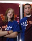 Ashley and Steve Strand are graduates of Virginia Tech who live in Lawrence. Steve is a native Kansan who roots for Kansas University during basketball season but will support his alma mater during the Orange Bowl.