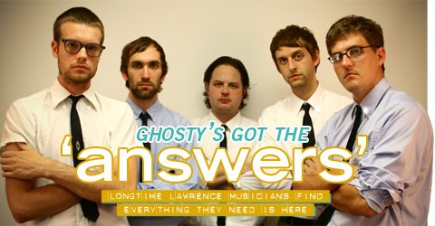 Ghosty is (L to R) Josh Adams, Mike Nolte, Jake Blanton, Andrew Connor, and David Wetzel.