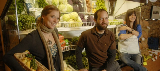 The Casbah Market, 803 Mass., opened Jan. 1. Owners are, from left, Cassy Ainsworth, Josh Millstein and his sister, Casey Millstein.