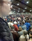 A packed house at the Douglas County fairgrounds for one of Lawrence's three Democratic caucuses Tuesday night.