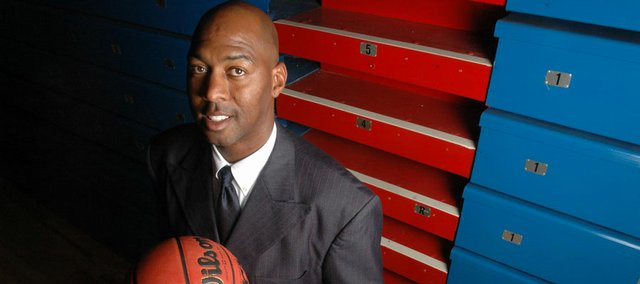 Kansas University assistant coach Danny Manning starred on the 1987-88 Jayhawks, who won the national championship, 83-79 against Oklahoma.