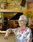 """Shirley Simmons, seen Wednesday at her cafe on U.S. Highway 56 in Overbrook, has decided to close shop after being in business since 1963, when """"hamburgers were six for a dollar."""""""