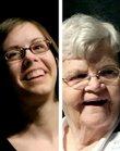 Wallace Galluzzi Outstanding Volunteer award winners Justine Ahle, 17, left, and Reathyl Brummett, 87.