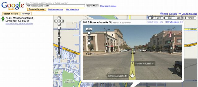 """A Google Street view zooms in on part of Massachusetts Street. Some of the features that attempt to """"upload"""" the physical world online can be reverse-engineered to work with your camera."""