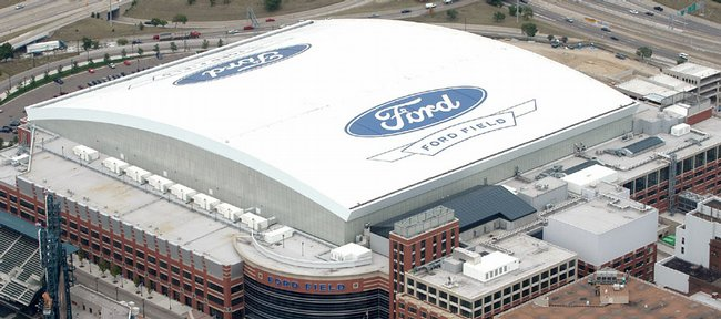 """The Kansas Jayhawks' road to the Final Four drives through Ford Field, in Detroit, which will have nearly 73,000 seats open for fans looking to watch Friday night's game against Villanova. Among those planning to attend is Alan Mulally, president and chief executive officer of Ford Motor Co., a company that reportedly paid $40 million over 20 years for naming rights. Mulally, a KU graduate who grew up in Lawrence, expects his Jayhawks to get a """"very, very warm reception"""" in Detroit. """"It's all coming together,"""" he said."""