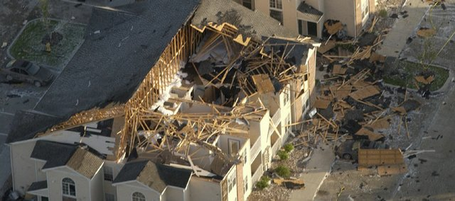 Aberdeen Apartments & Townhomes in south Lawrence suffered heavy damages after an F-2 tornado touched down May 8, 2003. It's been nearly five years since the tornado hit, and Lawrence officials used the experience to build on emergency response and programming in case another such storm should hit the area.