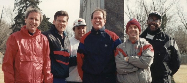 Michael Davis, Scot Buxton, Randy Towner, Bob Frederick, Roy Williams and Steve Robinson used to jog in Lawrence. Frederick, former athletic director at KU, died Friday night of injuries sustained in a bicycle accident.