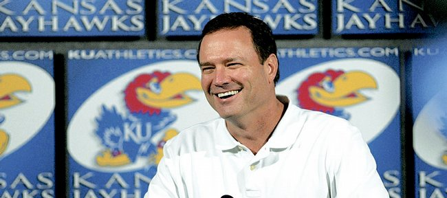 Kansas University basketball coach Bill Self said Tuesday, April 1, 2008, he isn't interested in the vacant coaching job at Oklahoma State.