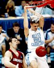 North Carolina's Tyler Hansbrough dunks against Louisville in the East Regional final.