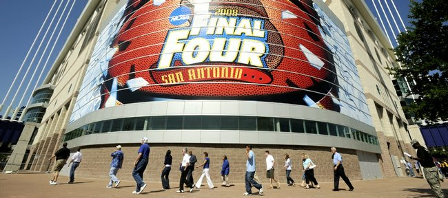 The outcome of Kansas' run for the national title will be determined this evening at the Alamodome in San Antonio. Twenty years have passed since the Jayhawks won their last national title. Neither Kansas' head coach Bill Self nor Memphis' head coach John Calipari have ever won a national title, though both coaches cut their teeth in Lawrence working for former KU coach Larry Brown.
