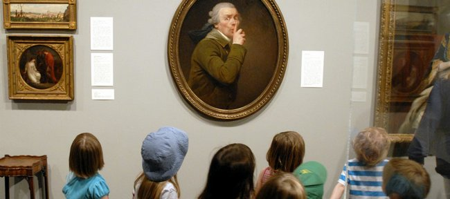 Preschoolers from the Lawrence Arts Center pause to examine Joseph Ducreux's painting 'Le Discret' (The Silence) as they tour the Spencer Museum of Art at Kansas University in this file photo.  Visiting a museum is one way to fill time now that the college basketball season is over.