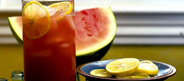 Watermelon adds natural sweetness to lemonade.