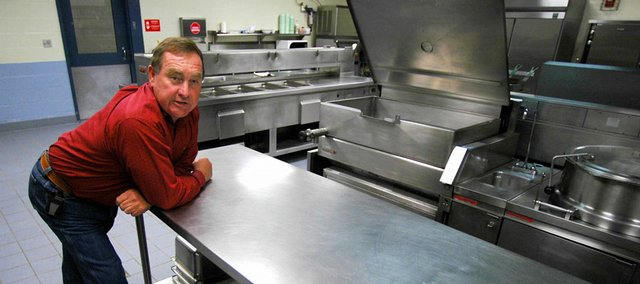 Limestone County Sheriff Mike Blakely is shown in the jail kitchen as he discusses feeding prisoners on April 9 in Athens, Ala. Back in the day of chain gangs, Alabama passed a law that gave sheriffs $1.75 a day to feed each prisoner in their jails, and the sheriffs got to pocket anything that was left over. Most Alabama counties still operate under this system.
