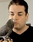 Andrew Dobson was training Tui, his African grey Congo parrot, outside when it blew away in the wind Monday afternoon. Dobson has been searching for the bird all week. He spent at least 12 hours a day with Tui, teaching her to speak and creating videos for YouTube.
