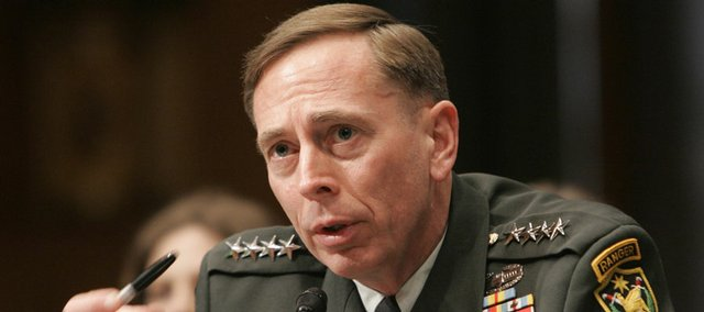 Gen. David Petraeus testifies Thursday on Capitol Hill in Washington at a Senate Armed Services Committee hearing to confirm him for the Central Command post..
