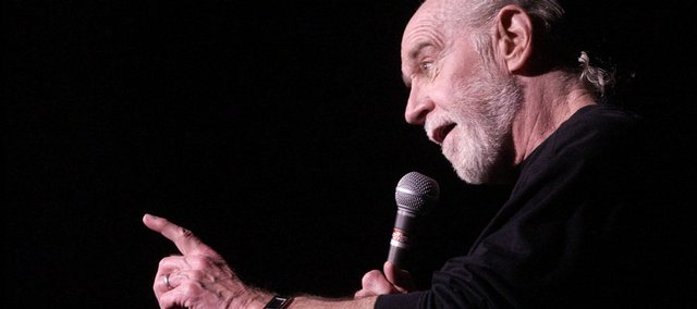 "George Carlin, 71, whose staunch defense of free speech in his most famous routine ""Seven Words You Can Never Say On Television"" led to a key Supreme Court ruling on obscenity, died Sunday."