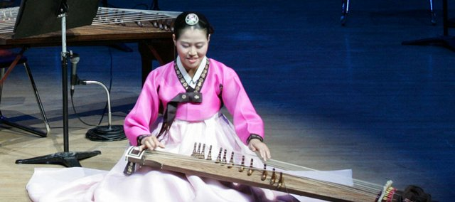 NaHye Kim will perform on the 12-string kayagum at today's Korean Culture Show.