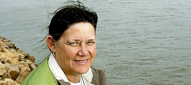 Kansas Riverkeeper Laura Calwell, shown in this April 25, 2007, file photo, will explore the Kansas River to monitor, clean and restore this major source of drinking water.