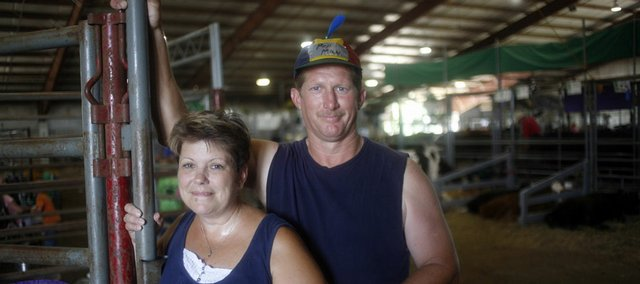LaDonna, left, and her husband, Larry Wilson, have had three children participate in the Douglas County Fair. Since Larry and his siblings started participating in the fair, a Wilson family member has shown at least sheep since 1968.