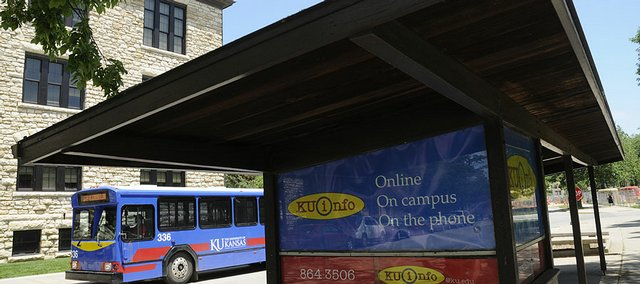 The kiosk on Kansas University's campus will become a satellite office for KU  Info and the University Daily Kansan.