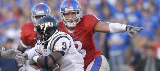 Former Kansas linebacker Joe Mortensen will work out in a mini-camp for the Buffalo Bills.
