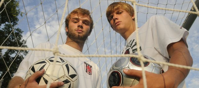 Lawrence High's Dar Fornelli, left, and Free State's Dale Shillington are among the leaders of their soccer teams this fall.