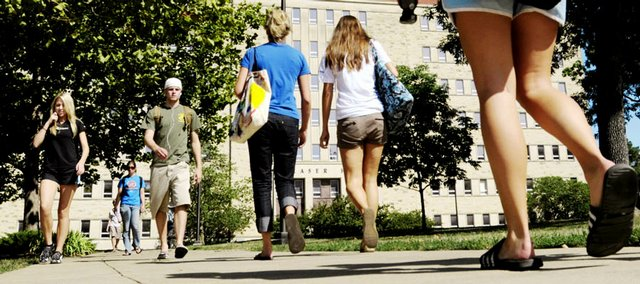 "Kansas University is celebrating ""record-breaking"" enrollment numbers this semester."