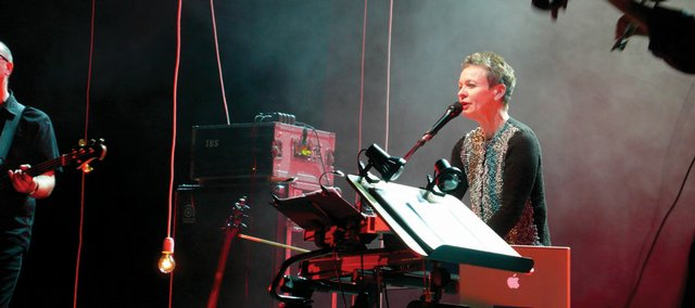 "Laurie Anderson performs a selection from her latest work, ""Homeland."""